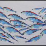Tableau poisson décoratif, une toile moderne originale