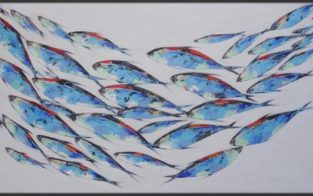 tableau décoratif avec des poissons
